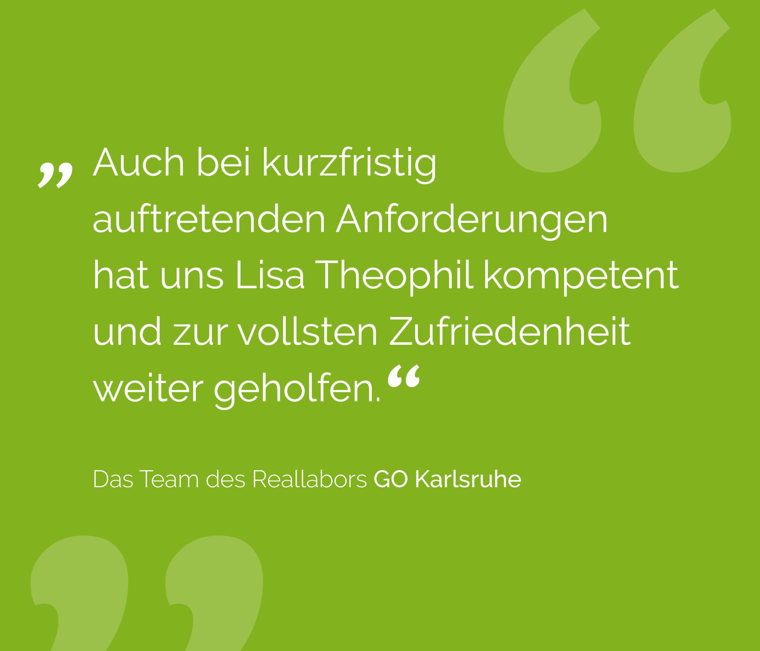 Kundenfeedback Reallabor GO Karlsruhe