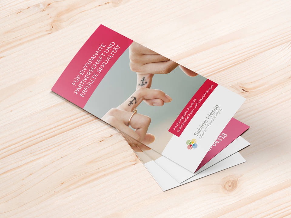 Flyer für Sabine Hesse – Diplom-Psychologin (Paar- und Sexualtherapie)