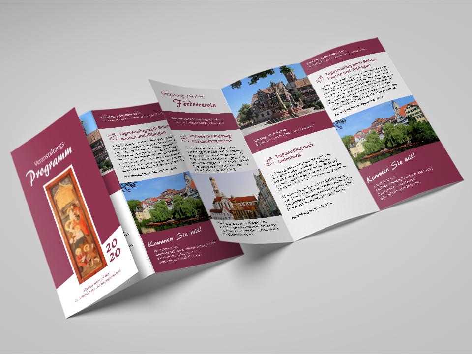 Flyer / Jahresprogramm für den Förderverein Sebastianskirche e. V.